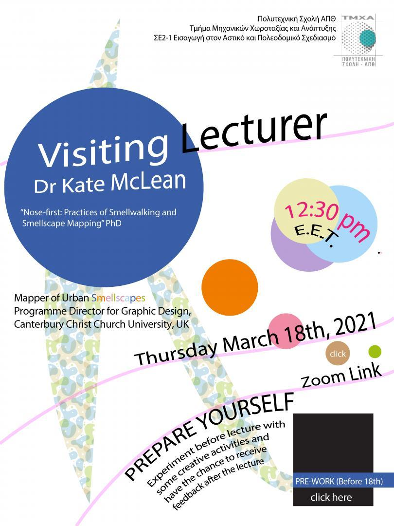 Smell Mapping Lecture/Workshop | Kate McLean